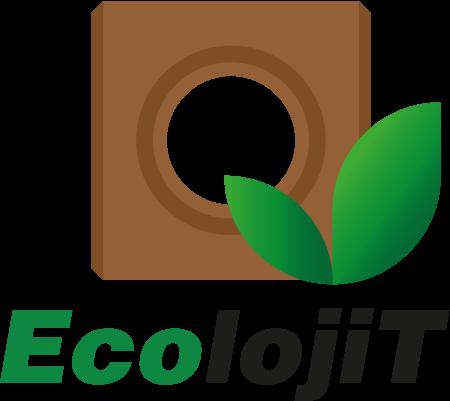 Logo EcolojiT, empresa empecializada em tijolos ecológicos.